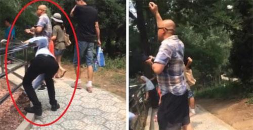 Khách Trung Quốc lấy đá ném hổ trong công viên