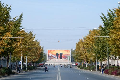 Một góc thủ đô Bình Nhưỡng.