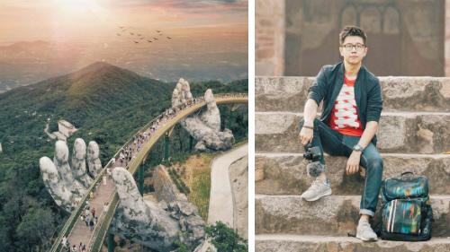 Du khách Malaysia nổi tiếng nhờ chụp ảnh Cầu Vàng ở Đà Nẵng