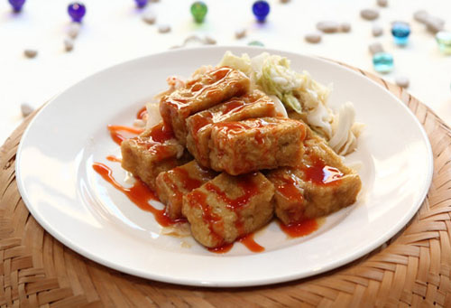Đậu phụ thối Đài Loan. Ảnh: taiwanfoodculture.net