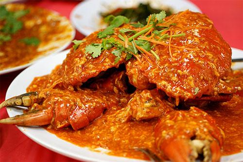 Cua sốt ớt, đặc sản phải nếm thử khi đến đảo quốc sư tử. Ảnh: singaporetourismblog