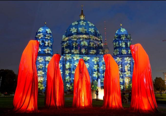 Triển lãm nghệ thuật ánh sáng đường phố tại Berlin