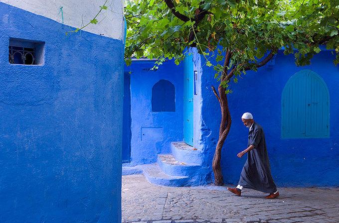 Mê cung xanh ở thị trấn cổ Marốc