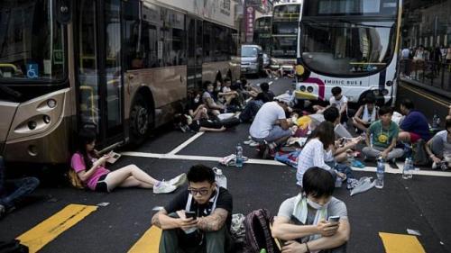 Hong Kong AFP 3982 1411975860 Du lịch Hong Kong đình trệ do biểu tình