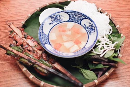Bamboo bun cha