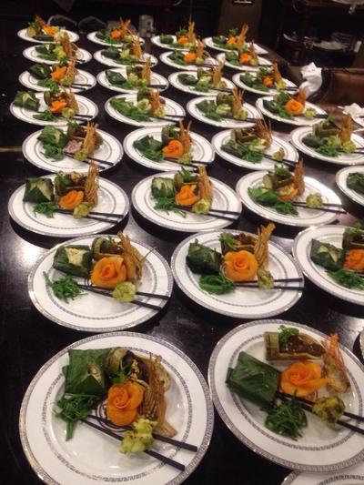 Món ăn được chuẩn bị sẵn sàng cho những bữa tiệc đặc biệt đón tiếp David Beckham