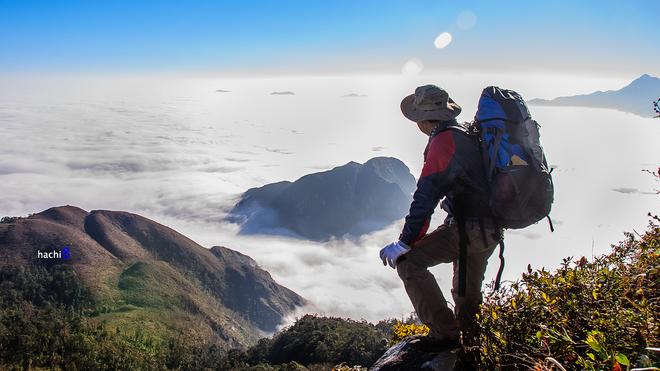 'Đại dương mây' trên đỉnh núi Muối