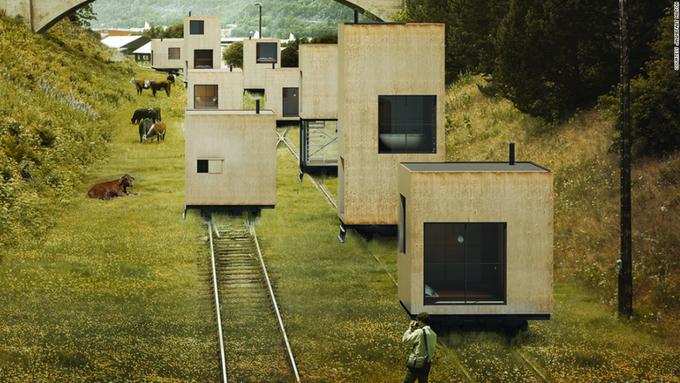 Những ngôi nhà di động kỳ lạ trên thế giới