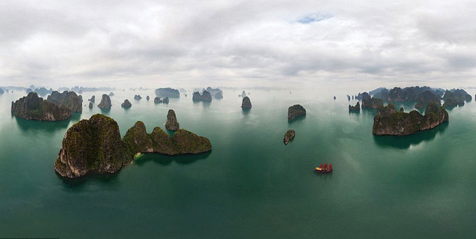 Khung cảnh đẹp lạ của các danh thắng nhìn từ phi cơ