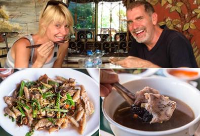 Du khách Mỹ 'choáng váng' khi ăn thịt rắn Việt Nam