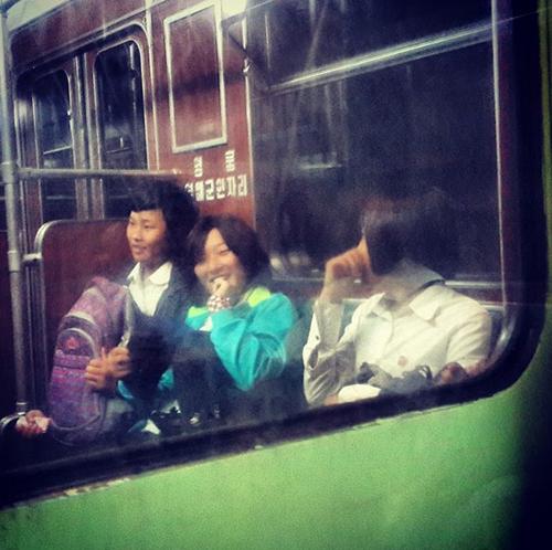 Tàu điện ngầm ở Bình Nhưỡng. vickyinam