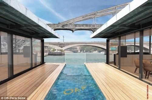 Paris xây khách sạn nổi đầu tiên trên sông Seine