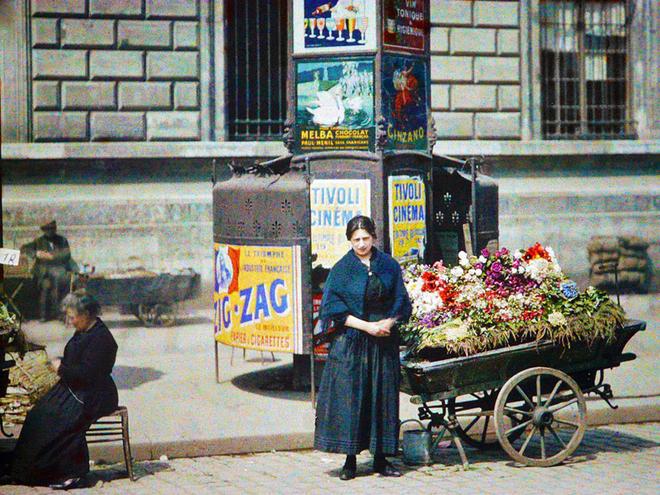 Paris đẹp mộc mạc trong bộ ảnh màu 100 năm trước