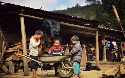Bản Cát Cát: Từ trung tâm thị xã Sapa đến Cát Cát chỉ 2 km. Đó là bản lâu đời của người Mông còn lưu giữ nhiều nghề thủ công truyền thống như trồng hoa, lanh dệt vải và chế tác đồ trang sức. Đặc biệt, nơi đây còn giữ được khá nhiều phong tục độc đáo mà ở các vùng khác không có, hoặc không còn tồn tại nguyên gốc. Ảnh: Vũ Quang