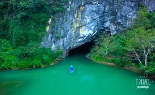 Quảng Bình - nơi có những hang động độc nhất vô nhị. Ảnh cắt từ video.