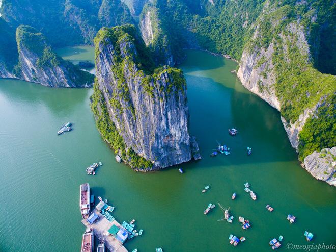 Vịnh Hạ Long - bối cảnh phim Kong: Skull Island nhìn từ trên cao 6