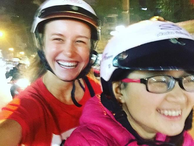 Oscar-winner Brie Larson discovers Vietnam by motorbike