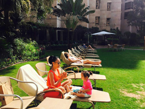 Đoan Trang nghỉ trong khách sạn 5 sao.