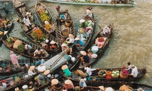 Chợ nổi - nét đặc sắc ở Đông Nam Á