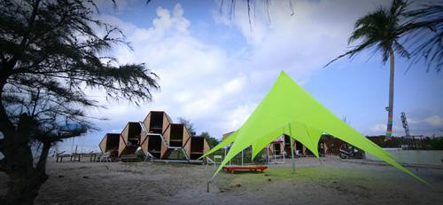 Điểm cắm trại dễ thương trên bãi biển Kê Gà - ảnh 1