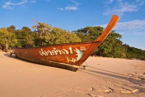 Những chiếc thuyền đặc trưng ở Trang.