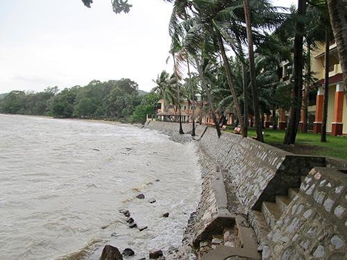 Biến đổi khí hậu còn ảnh hưởng đến nhiều vùng biển ở Kiên Giang. Ảnh: ESRT