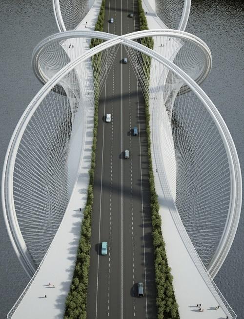 Cây cầu xoắn kép phục vụ Olympic Bắc Kinh 2022