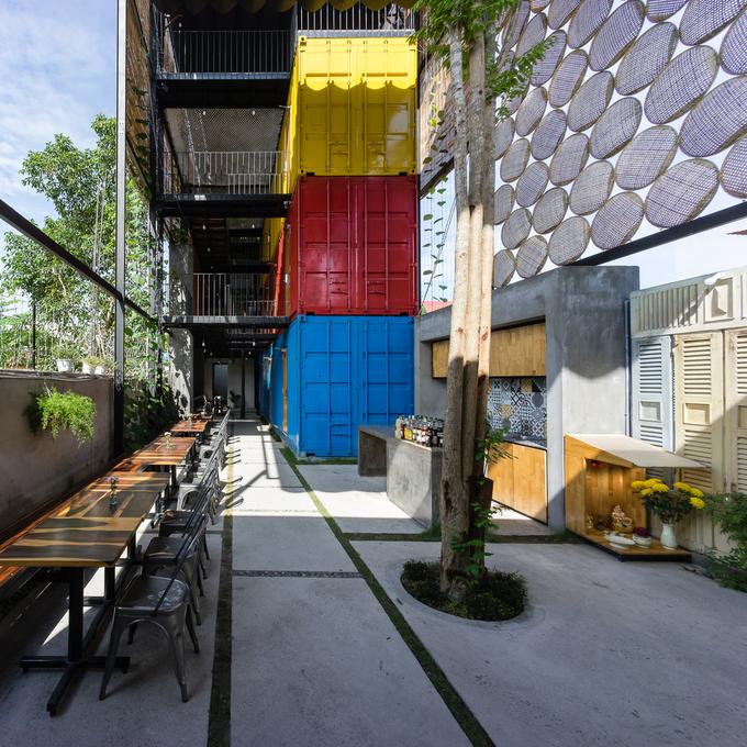 Khách sạn container phong cách ở Nha Trang