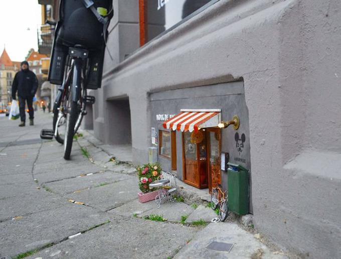 Cửa hàng tí hon cho chuột ở Thụy Điển