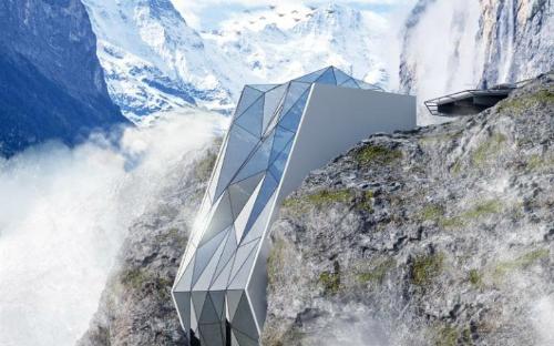 Hotel in Alps được ví như là một hang ổ cho thế lực đen tối trong phim James Bond.  Ảnh: Andril Rozhko.