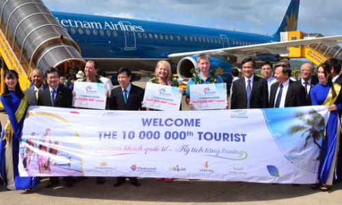 Du lịch Việt Nam đón khách quốc tế thứ 10 triệu