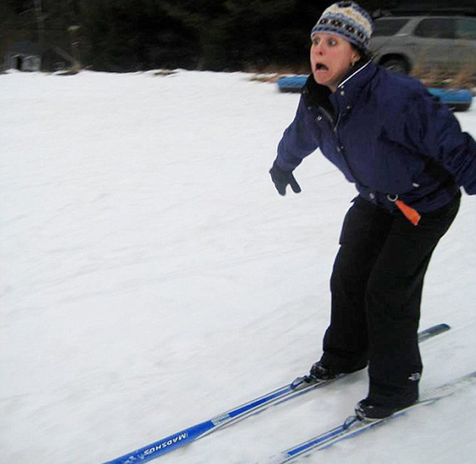 Những hình ảnh hài hước về du khách đi trượt tuyết