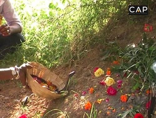 Sau màn trình diễn, Rakha và người xem sẽ cầu chúc điều tốt lành cho con rắn và thả nó về với thế giới tự nhiên. Ảnh: CAP.