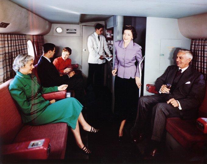 Những dịch vụ hàng không siêu sang từ năm 1950