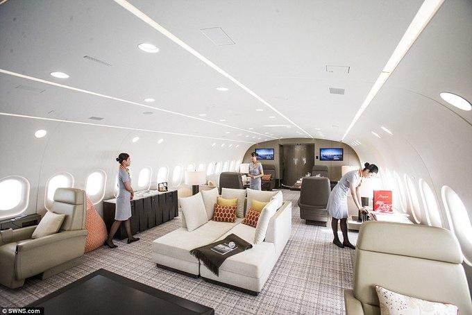 Máy bay được mệnh danh 'căn hộ penthouse trên không'