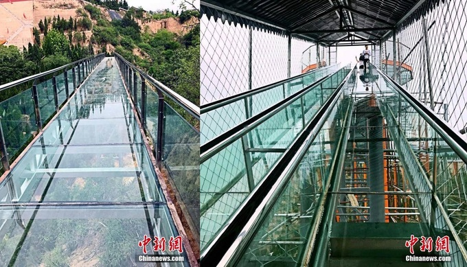 Trung Quốc ra mắt cầu trượt đáy kính dài nhất thế giới