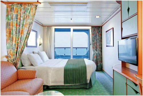 Phòng ngủ trên du thuyền.