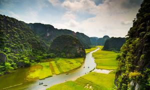 Các điểm đến nổi tiếng Ninh Bình nhìn từ trên cao