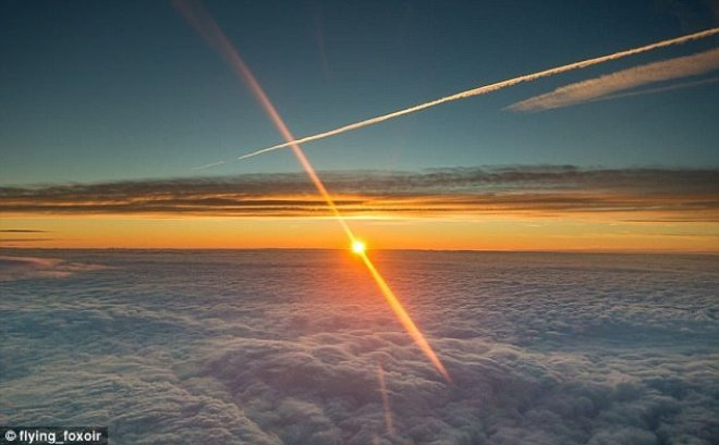 Phi công tiết lộ ảnh chụp từ buồng lái máy bay