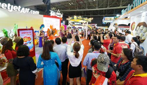 Vietjet mang đến nhiều hoạt động thú vị, thu hút quan khách.