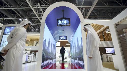 Đường hầm ảo kiểm tra an ninh tại Sân bay quốc tế Dubai. Ảnh: The National.
