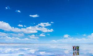 Hồ muối Trà Ca - chiếc gương khổng lồ của bầu trời
