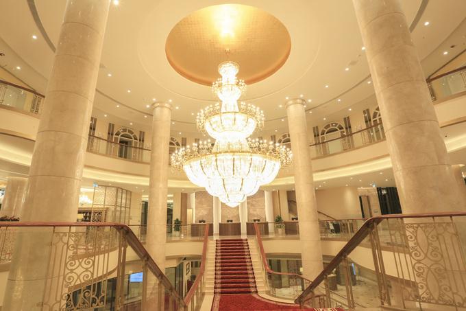 Bên trong khách sạn tổ chức Quốc yến APEC