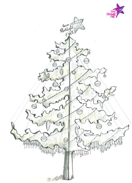 Hình của cây thông trong giai đoạn phác thảo và thiết kế.