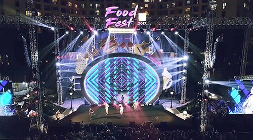 Phối cảnh sân khấu Fest Food 2017 tại TP. HCM.