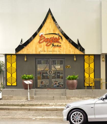 Nhà hàng Bangkok Kitchen tọa lạc tại Số 42, đường số 6, Hưng Vượng 3, Phú Mỹ Hưng là điểm đến của những tín đồ mê ẩm thực Thái.