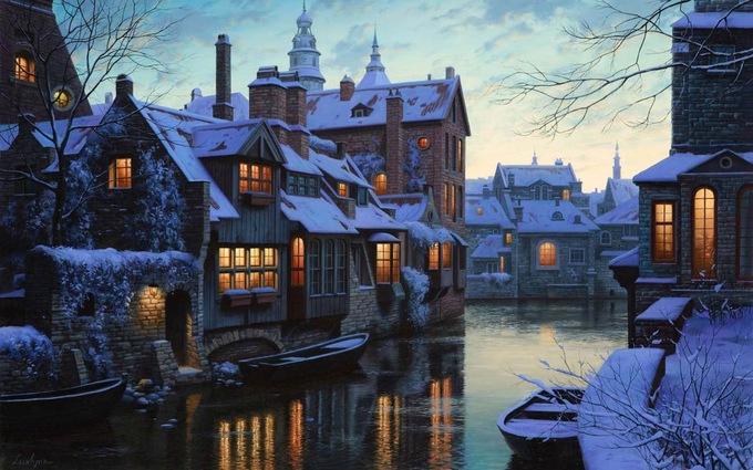 Mùa đông tuyết trắng ở châu Âu