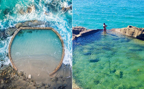 Bể bơi Laguna Beach Pool là một bể bơi nhân tạo, nằm dưới chân một khách sạn gần bãi biển ở phía nam quận Cam, California, Mỹ, theoAmazingplacesonearth.