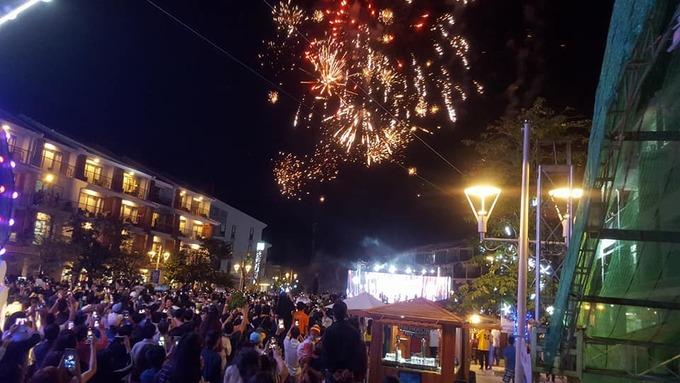 Phú Quốc lần đầu tiên bắn pháo hoa Tết Dương lịch chào năm mới 2018