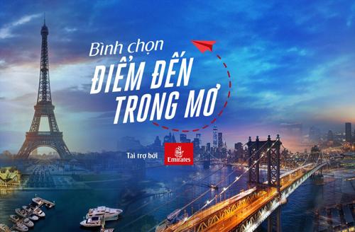 Điểm đến trong mơ là chương trình bình chọn điểm du lịch quốc tế được độc giả yêu thích nhất.
